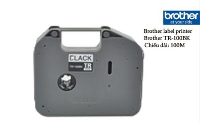Brother - Brother P-Touch TR-100BK Siyah Etiket 100 mt
